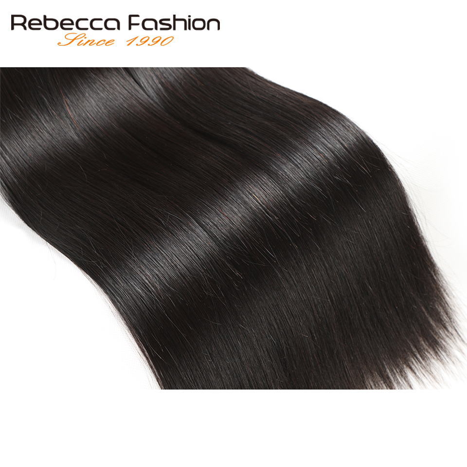 Rebecca Malaysian Straight Hair 4 Bundles Deal 10-26 tums icke remy - Barbershop - Foto 5