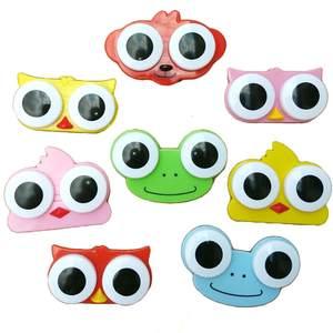 KLASSNUM 1 PC Cute Eye Glasses Holder Box Contact Lens Case