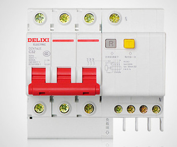 DZ47sLE 3P+N 40A 50A 63A 80A 100A 125A current Circuit breaker with over current and Leakage protection, air break switch