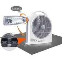 220 В перезаряжаемый Электрический вентилятор со светом телефон перезаряжаемый вентилятор портативный Электрический вентилятор для путеше