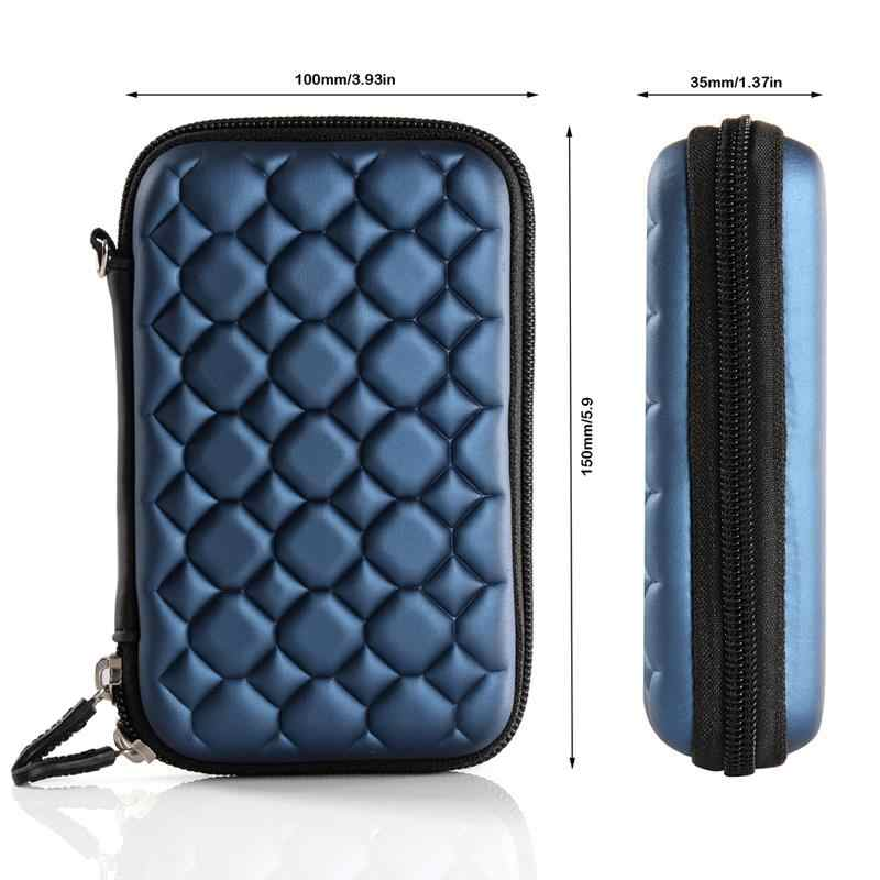 """ORICO Blue 2.5"""" External Portable Hard Disk Protection Bag SSD Pouch for 2.5 inch HDD case Data Cable for SEAGATE HDD"""