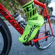 Santic Cycling Shoes Covers 2018 Windproof MTB Road Tour De France Bike Shoes Cover 39 45