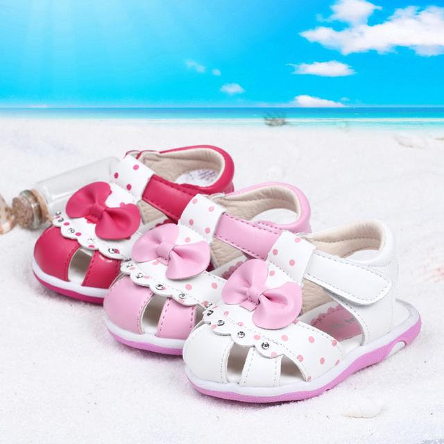 2016 respirável sapatas do miúdo tênis partido andando comfortabe macio crianças sapatos da criança verão princesa bow-tie sapatos 11-13 LT-018