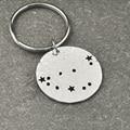 Capricorn Constellation keychain,Capricorn Sign Birthday Gift, Horoscope keychain, Astrology Jewelry,Zodiac keychain