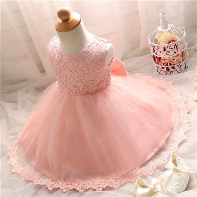 Случайные Летом Новорожденных 1 Лет Ребенок День Рождения Крещение Dress For Kids Одежда Vestido Infantil Малышей Крещение Одежда G4