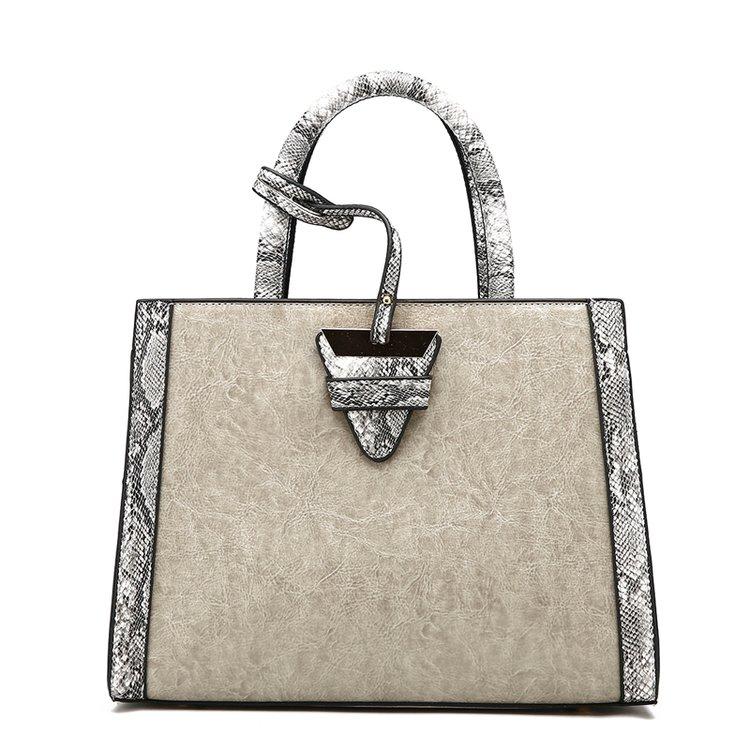Marca de lujo moda de alta calidad de piel de serpiente patrón de ...