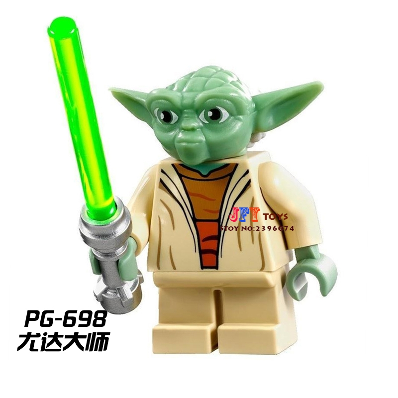 Single star wars super heroes marvel dc comics Yoda building blocks models bricks toys for children kits brinquedos menino светильник светодиодный 3dlightfx star wars yoda face 3d