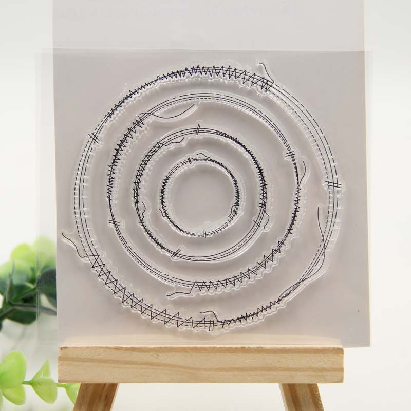цены Sewing Circles Clear Silicone Rubber Stamp for DIY scrapbooking/photo album Decorative craft