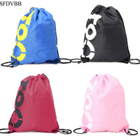 SFDVBB Shopping Drawstring Bags Waterproof Travel Beach Gym Shoes Sports Pack