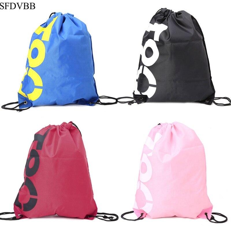 SFDVBB Shopping Drawstring Bags Waterproof Travel Beach Gym Shoes Sports Pack