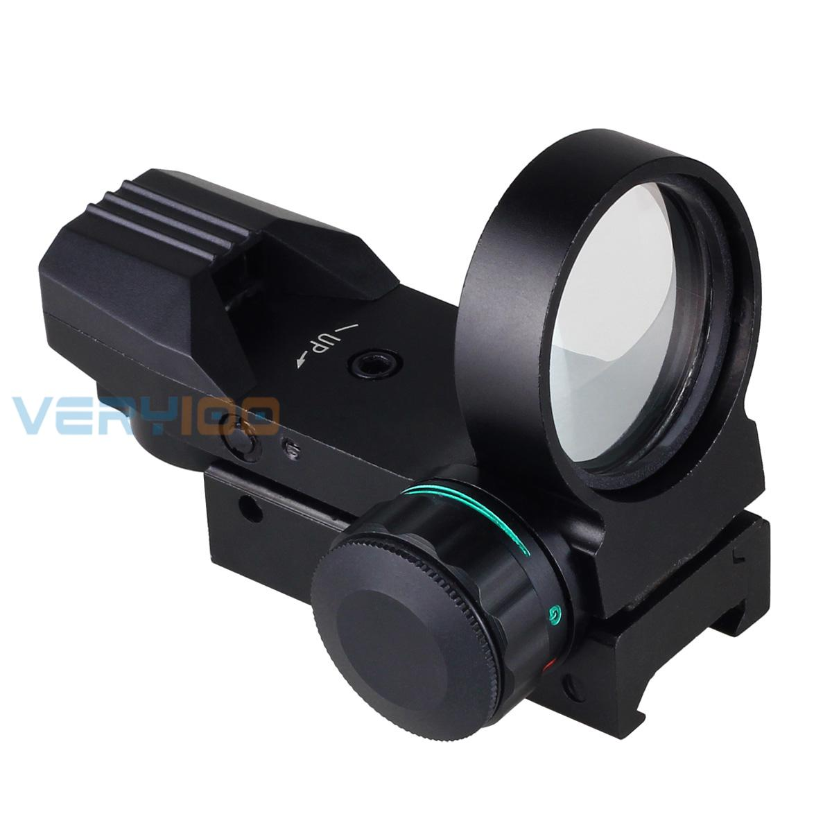 33mm Electro Holographic 4 Type Reticle Red & Green Dot Reflex Sight Scope Free Shipping!