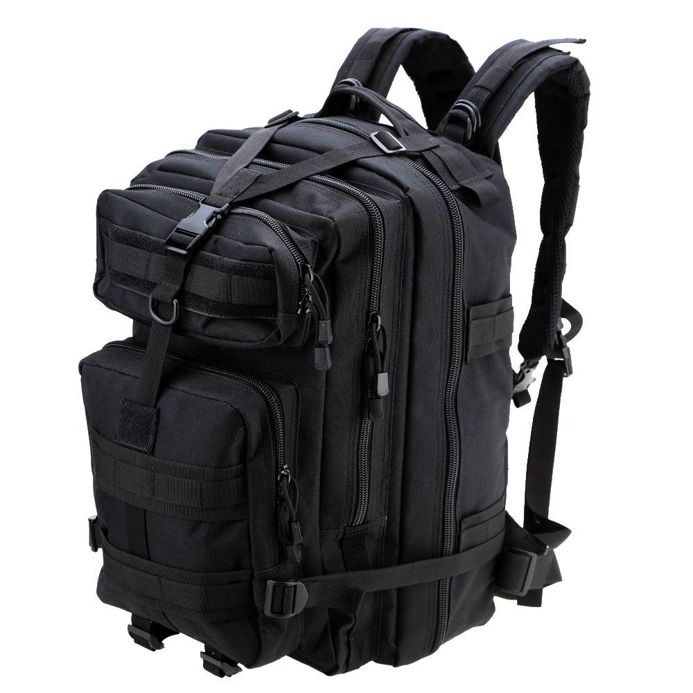 Camping en plein air randonnée sac à dos noir en Nylon sac 45L militaire tactique sac à dos Trekking sac à dos Portable cyclisme sac à bandoulière
