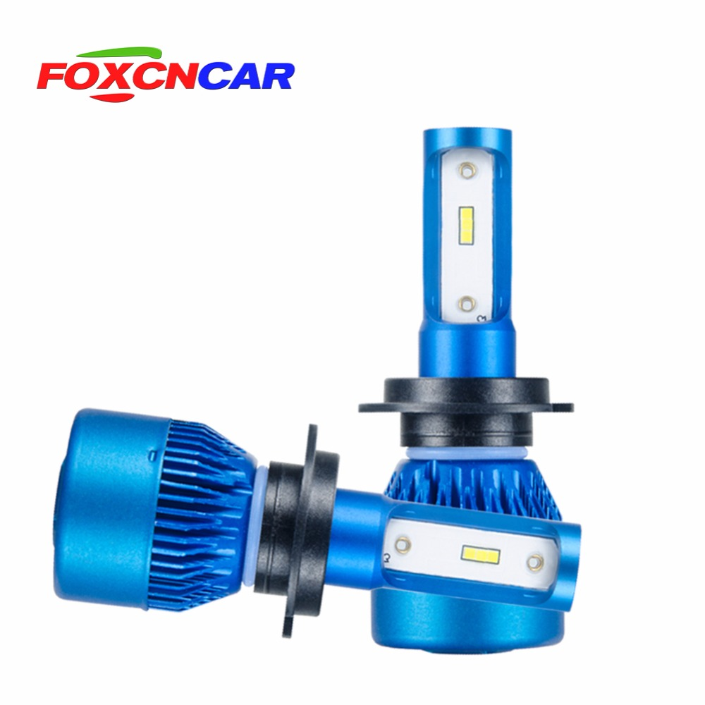Foxcncar H7 H4 H1 H11 9005 9006 LED car headlight bulb hi-lo beam CSP chip Mini 24V 10000LM 72W Auto Headlamp HB3 H8 12V 6500K h4 h7 h11 h1 h13 h3 9004 9005 9006 9007 9012 cob led car headlight bulb hi lo beam 72w 8000lm 6500k auto headlamp 12v 24v%2