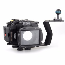 Meikon 40m/130ft Underwater Diving Camera Waterproof Housing Cases for Sony WX500+Aluminium Diving handle Free Shipping все цены
