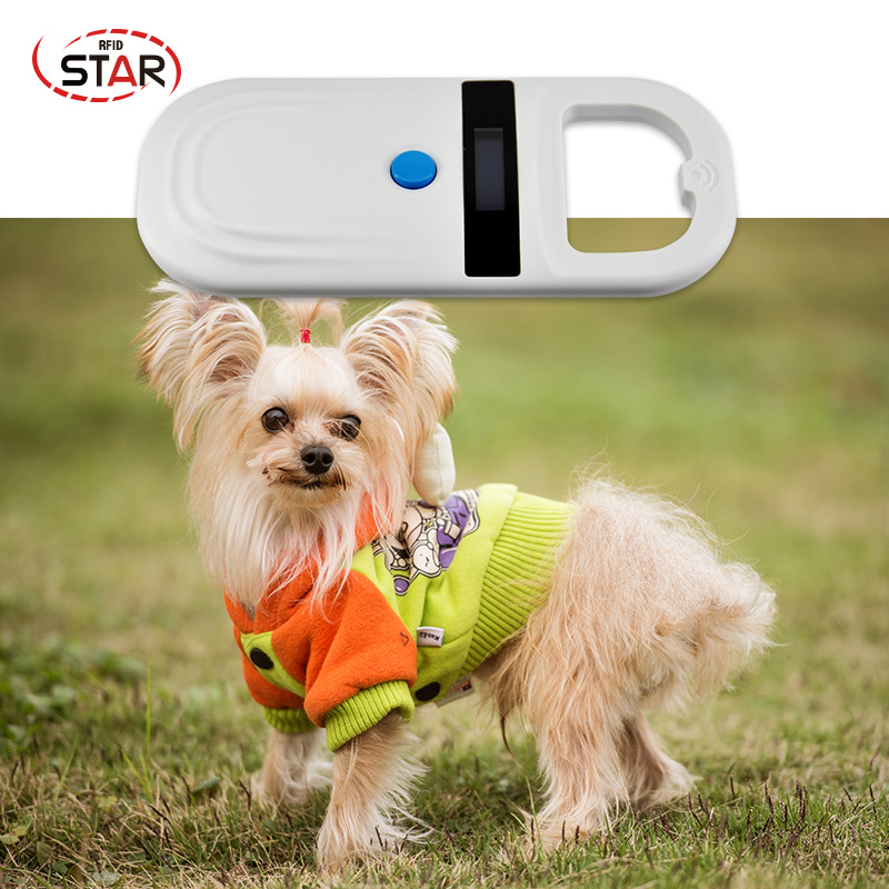 Portable 134.2KHz FDX-B ISO11784/11785 Pet RFID Chip Reader For Dog Cat LCD Display Animal Microchip Scanner Tag Barcode Scanner