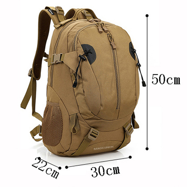 MAGIC UNION Men and Women Unisex Military Backpack Canvas Bag Trekking Rucksacks 40L Backpacks Men Backpacks Men Bags Fashion 1