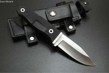 UTILITY Fruit knife kitchen Fixed Blade Knives Hunting Camping Knife Steel Leather sheath G10 Handle Survival  gIFT 5