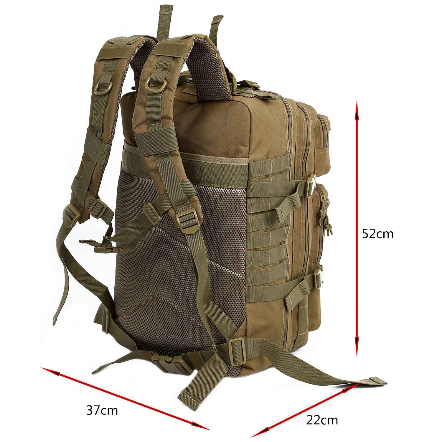 5d157d1b71ad LJL 34L Tactical Assault Pack Backpack Army Molle Waterproof Bug Out Bag  Small Rucksack for Outdoor Hiking Camping Hunting