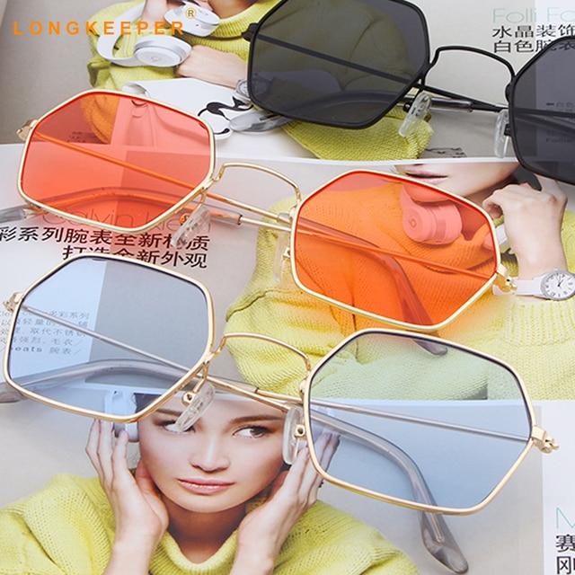 Polígono sunglasses hexagon Hexagon lente dos óculos de sol dos homens das  mulheres Designer de Marca 53e23dbabf
