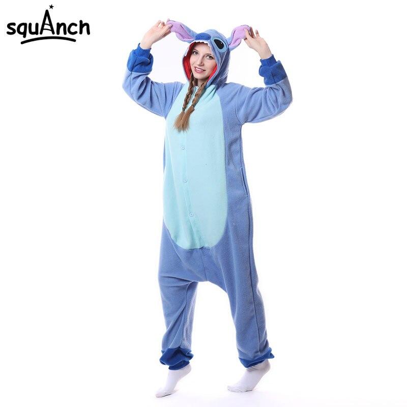 ba67262d Lilo Stitch Kigurumi Onesie Anime dibujos animados pijama mujer adulto  Animal mono suelto lindo ropa de dormir Festival Fiesta traje - AliExpress