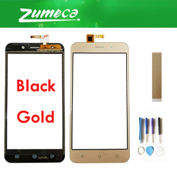 Original For INOI 2 Lite / INOI 2 Touch Screen Sensor Glass Digitizer Black Gold Color With Tools & TAPE For Free