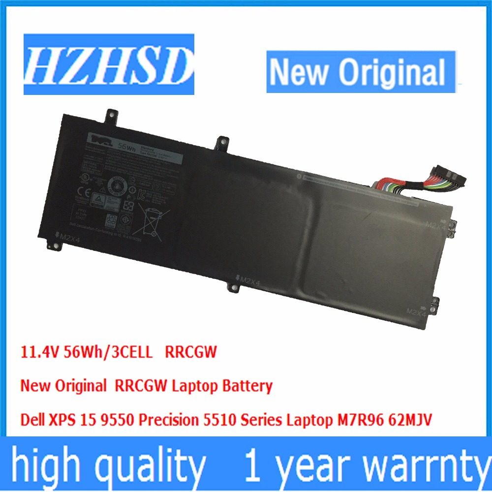 11.4V 56Wh/3CELL RRCGW New Original  RRCGW Laptop Battery FOR Dell XPS 15 9550 Precision 5510 Series Laptop M7R96 62MJV 11 1v 97wh korea cell new m5y0x laptop battery for dell latitude e6420 e6520 e5420 e5520 e6430 71r31 nhxvw t54fj 9cell