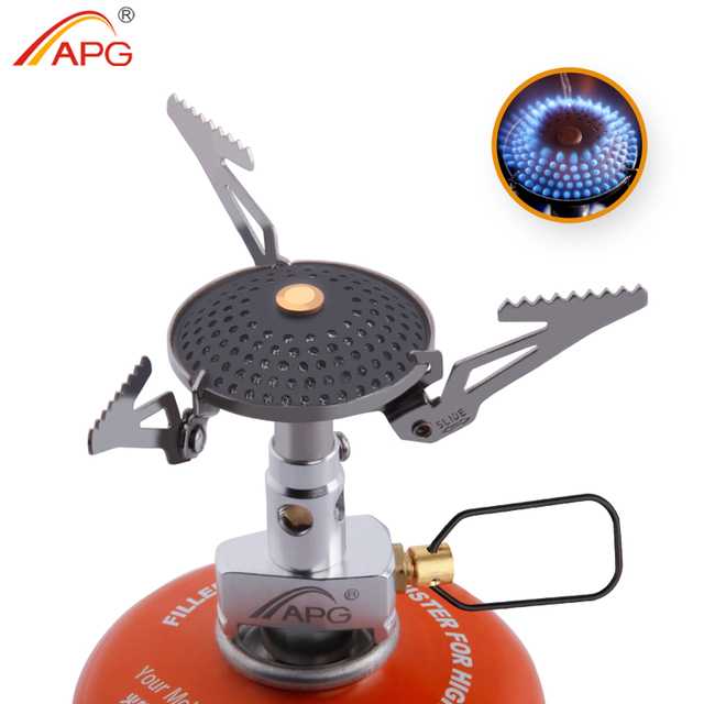 APG Outdoor Gas Stove Mini Portable Pocket Gas Burners Camping Equipment Hiking Picnic Igniter Survival Furnace