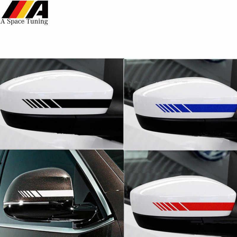 רכב סטיילינג רעיוני עמיד למים מדבקה אחורית צד מראה מדבקות פס DIY אביזרים חיצוניים עבור טויוטה BMW בנץ פורד פולקסווגן