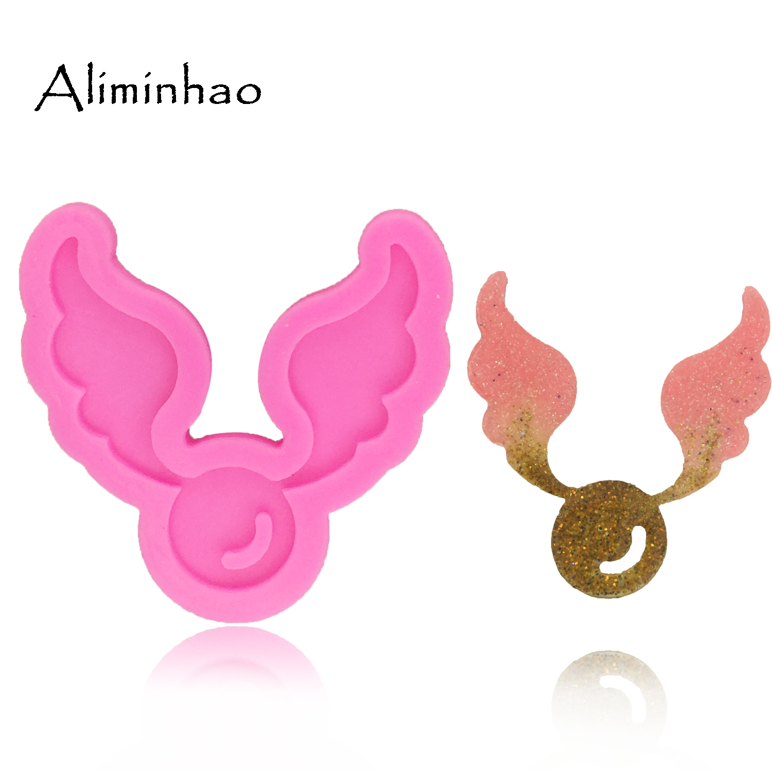 DY0068 Angel Wings Shape Fondant Cake Decoration Dessert Tools Sugarcraft Silicone Mold For Cake Clay DIY Chocolate Resin Mold
