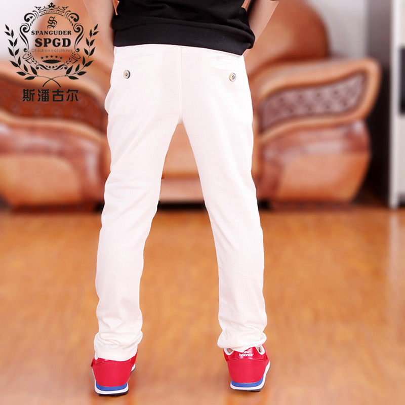 Children's clothing pants cottonkids trousers boys spring autumn thin pants fashion claretred humpbacks dark green white casual