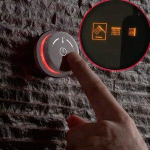 2 головки, умная душевая панель, Круглый контроллер, клапан, термостатический ЖК-дисплей, Душевая система, ванна, смесители, смесители для ва...