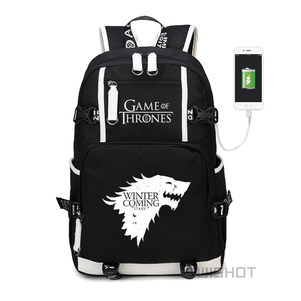 WISHOT Game of Thrones Ice Fire backpack for teenagers Men women s School Bags travel multifunction