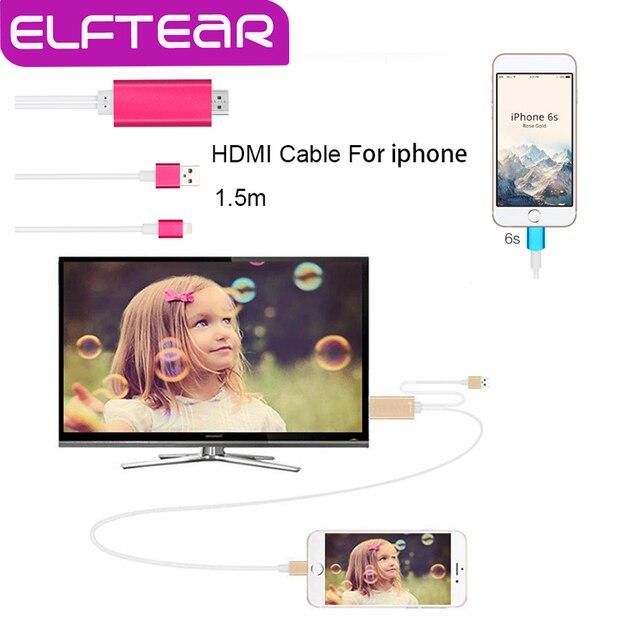 Aluminiun liga cabo adaptador hdmi para para iphone 6 s plus 6 mais 6 s 6 SE1080p TV Saída de Áudio de Vídeo Celular conversor