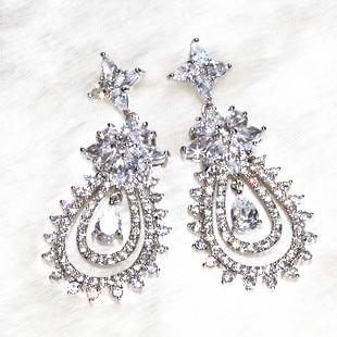 la dea orecchini orecchino per la bella womoan artigianato puro competenze lampeggiante di charme aaa zircone , 138 pietra a grana ALW1868 - 3
