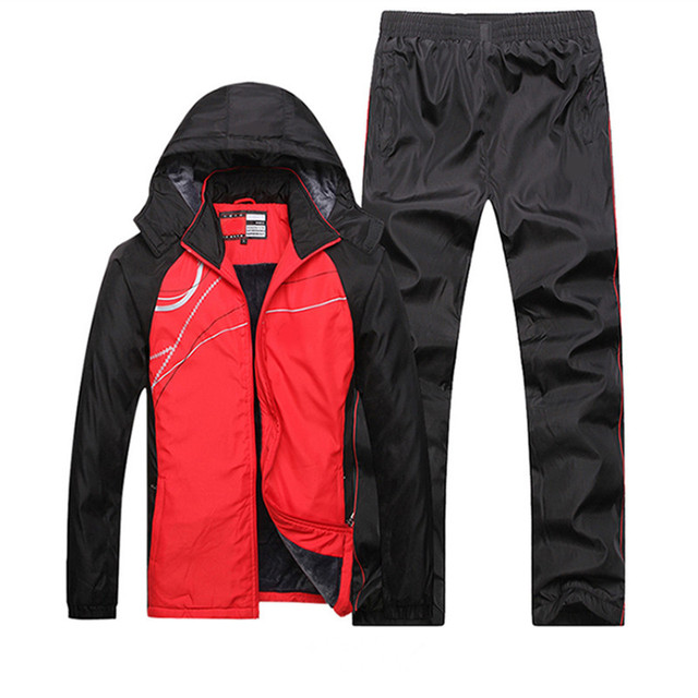Casual Sportswear Set 2018 Winter Men Hoodie sweatshirt+Pants Sweat Suit Male Warm Hoodie Sporting Suits 2 Piece Set