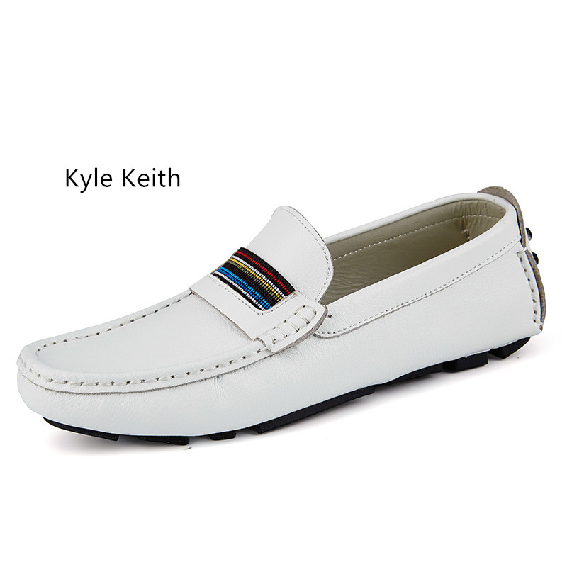 Kyle Keith 2017 Summer Men Casual Shoes Men's Fashion Split Leather Driving Flats Breathable Slip On Lazy Shoes Size 38-45 pl us size 38 47 handmade genuine leather mens shoes casual men loafers fashion breathable driving shoes slip on moccasins