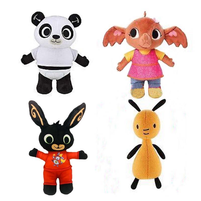 4pcs /lot Bing Bunny Rabbit Panda Stuffed Animal  Plush Soft Doll Toys For Children Kids Christmas Gift