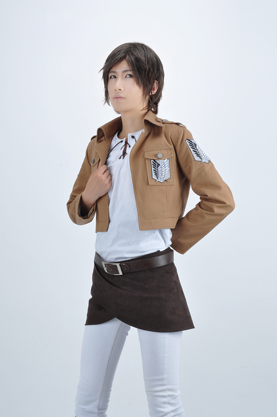 Free Shipping Attack on Titan Eren Jaeger The Recon Corps Uniform Anime Cosplay Costume