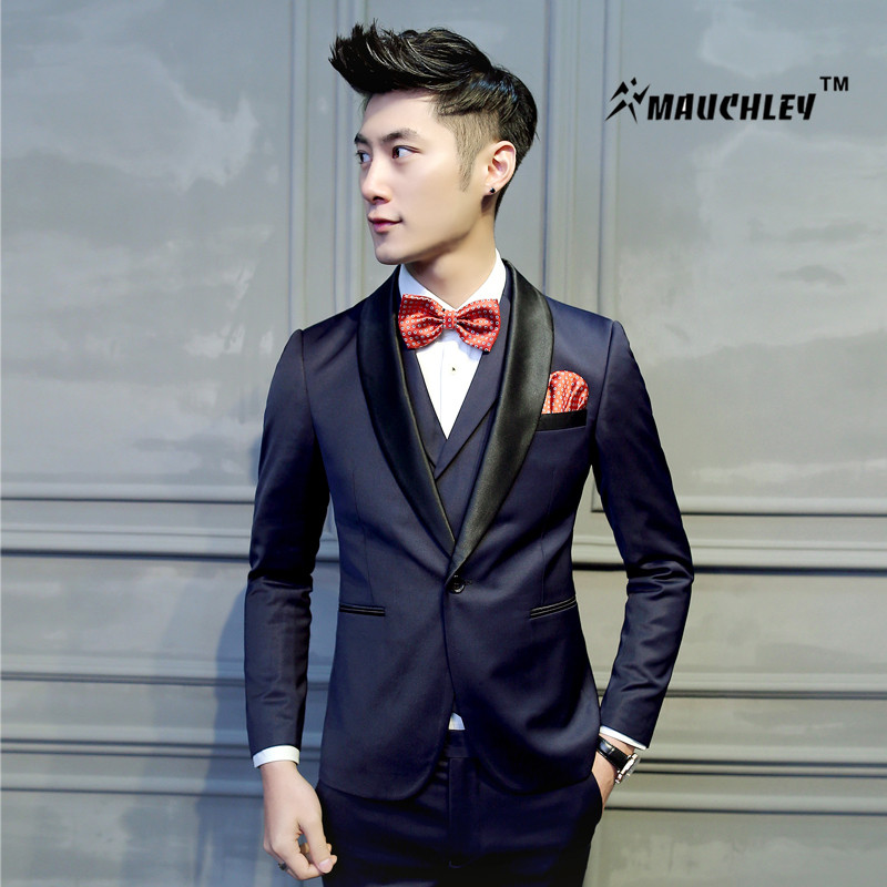 8eff3f94e 2018 Latest Coat Pant Designs Tuxedo Mens Prom Suits 2 pieces (Jacket+Pant)  Wedding Suit for Men Slim Fit Boys Terno Masculino