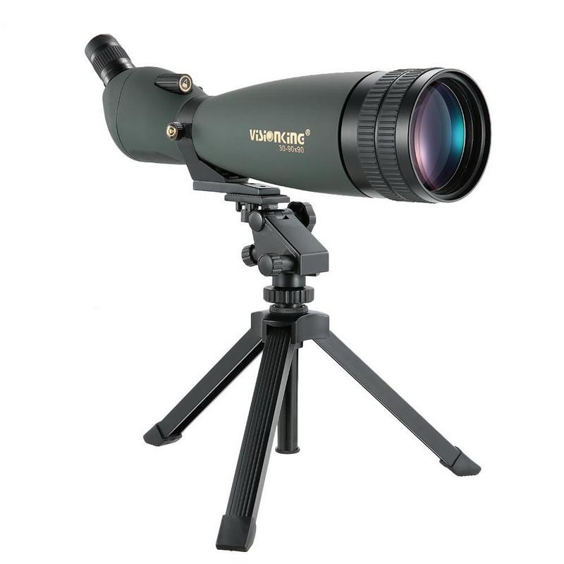 Visionking 30 90X90 Spotting Scope Waterproof Big Vision Monocular Telescope Bak4 Hunting Bird watching Guide Scope
