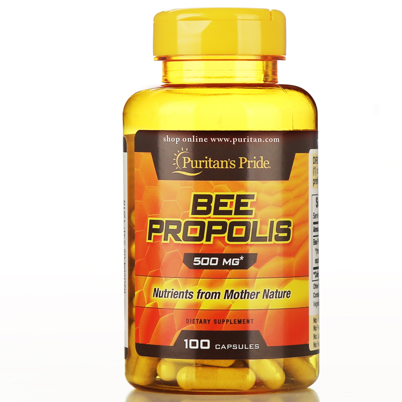 USA Bee Propolis 500 mg-100 Capsules free shipping dong quai 530 mg traditional herb for women 100 capsules free shipping