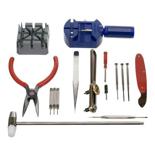 Popular 16pc Set Watch Repair Tool Kit Band Pin Strap Link Remover Back Opener NO181 5V65