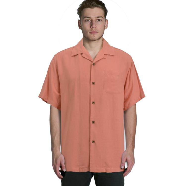 Silk Short Sleeve Loose Plus Big Mens Shirts Big Sizes Us