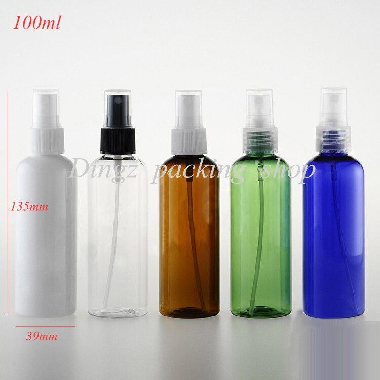 New Arrivals 50pcs lot 100ml Empty Plastic Perfume Atomizer Spray Bottles 100cc toner packaging bottle Free