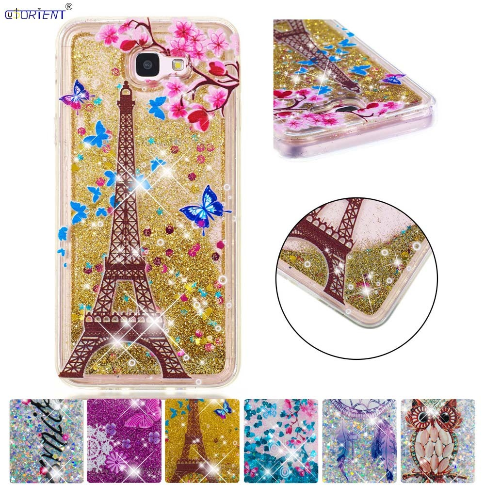 Half-wrapped Case Phone Bags & Cases Good Glitter Case For Samsung Galaxy J5 Prime On5 2016 Silicone Phone Cover Sm-g570f/ds G570f Dynamic Liquid Quicksand Fitted Cases With Traditional Methods