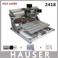 Diy 5500mw Cnc Engraving Machine Cnc 2418 Diy Laser Engraver GRBL Control ER11 Cnc 3 Axis