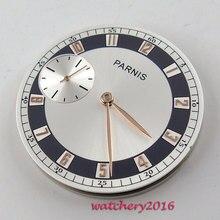 b54c48f8148 38.3mm prata dial banhado a ouro marca ajuste ETA 6497 ST 3600 movimento  mostrador do Relógio dos homens + mãos