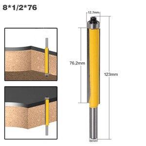 """Image 4 - 3 stücke 8mm Schaft 2 """"Flush Trim Router Bit Set Fräser mit Lager für Holz Vorlage Muster bit Holz Cutter Fräsen Werkzeuge"""