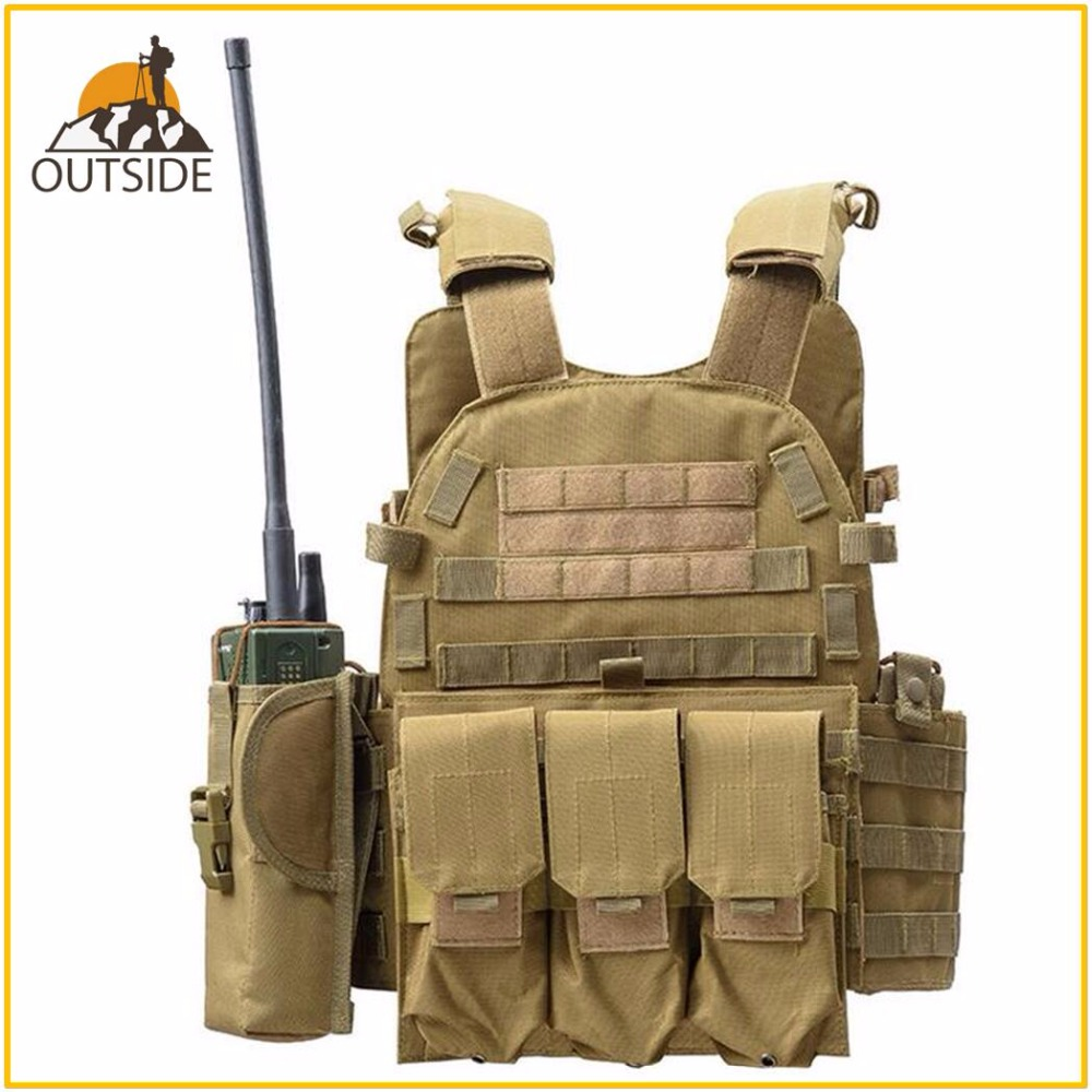 Chasse Tactique Accessories gilet pare-balles CPM Plaque veste de porteur Munitions Magazine Chest Rig Airsoft Paintball Gear Chargement Ours Gilets