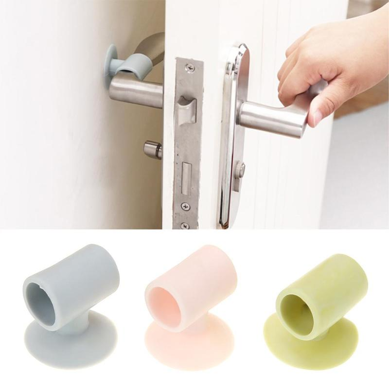 Household Cleaning Back To Search Resultshome & Garden Impartial 1pcs Silicone Anticollision Sucker For Door Handle Home Door Protecting Pad Mute Silencer Suction Door Stops Colours Are Striking